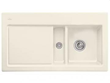 Villeroy Boch Subway 50 &Ivory Ceramic Inset Mounting Kitchen Sink Beige