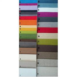 Corner Sofa Fabric Eco PU Leather Two Tone 4Seater Modern Lounge, Various Colours, Italian Product–White