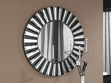 Modern mirrors model ALBERTA in colour black.