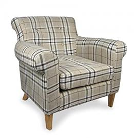 Shankar Pittsburgh Check Fabric Armchair