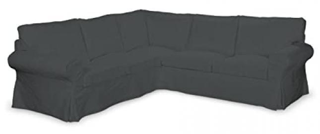 Dekoria Fire Retarding Ikea Ektorp corner sofa cover - graphite grey chenille