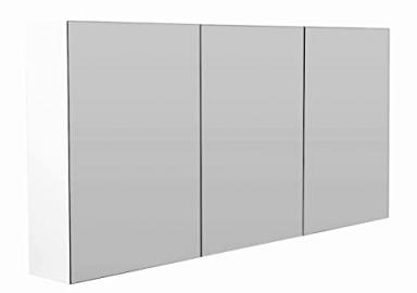 Premium 137x62 cm Mirror Cabinet White High Gloss