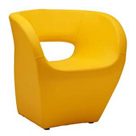 Protege Homeware Yellow Leather Effect Aldo Chair