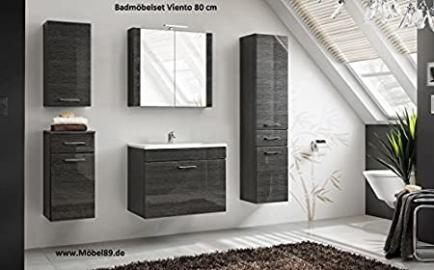 Bathroom Furniture Set Bathroom Viento 80 cm Bathroom Furniture Glossy MDF Wood