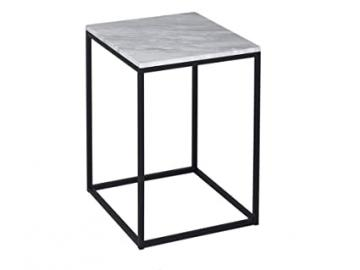 Kensal Square White Marble Side Table