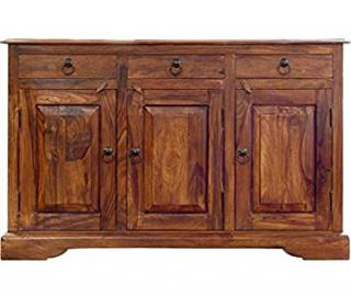 SOLID SHEESHAM WOOD LARGE SIDEBOARD CUPBOARD CABINET