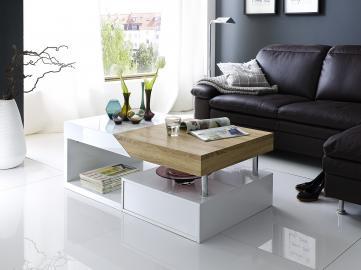 Hope - white and oak living room tables