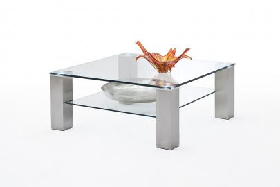 Asta 1 - square glass coffee table