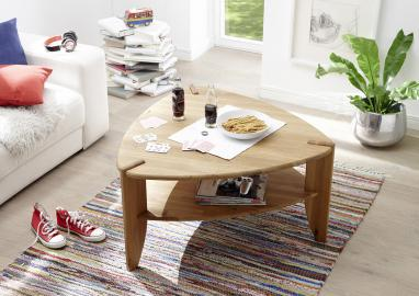 Theo - triangular oak coffee table