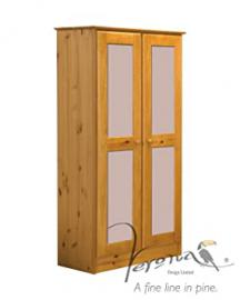 Verona Design Verona 2 Door Wardrobe Antique With Pink Details