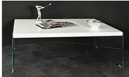 Olympia Designer Rectangle High Gloss Lacquered & Glass Coffee Table