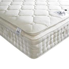 Happy Beds Dorchester 2000 Pocket Sprung Organic Pillow Top Mattress - Small Double