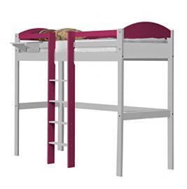 Design Vicenza Maximus High Sleeper Central Ladder White With Fuschia Details