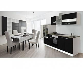 respekta Kitchen Unit 270 cm White with APL Black Walnut Wood Replica KB270WS)