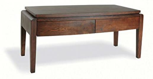 Waldorf Old English Finish Oak Solid Coffee Table With 4 Drawers