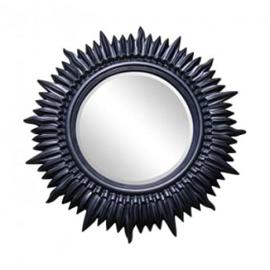 "Large Black Sun Wall Mirror (3ft 10"" x 3ft 10"")"