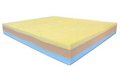 """Rainbow"" 3 Layer Memory Foam Mattress – 200x 170 x 22 cm – Cushions Included – Aloe Vera"