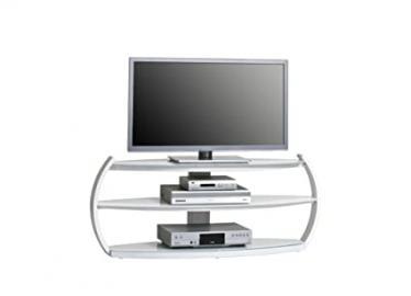 Maja 16264635 Media Cabinet 1250 x 509 x 385 mm Glass / Monochrome White