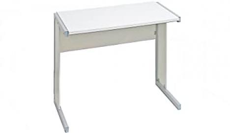 Black and White - 800 mm Rectangular desk, desktop/sides - White - Flat Packed