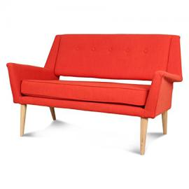2 Seater Sofa in Orange Canvas Brando