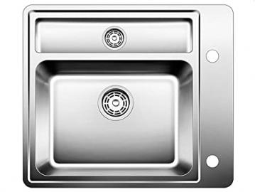 BLANCOSTATURA 6-U, undermount sink, stainless steel satin polish, for 60 cm cabinets, 514265