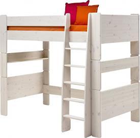 Steens Kids Pine High-Sleeper Bed, Whitewash Finish