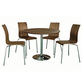 LPD Furniture Soho 4 Seater Dining Set, In Walnut