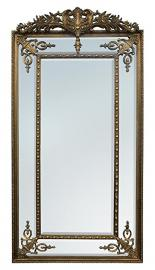 Gold Pin Cushion Rectangular Mirror, Rectangular Inlay, with Crown
