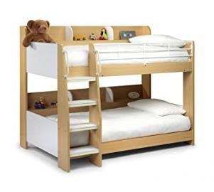 Domino Bunk Bed With Shelves Maple Unique Design Ladder Steps