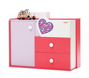 New Joy Lovely Children Chest of Drawers, 86 x 100 x 44 cm, Pink