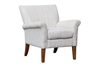 Ballater - Patterned Contemporary Style Fabric Accent Armchair (Natural)