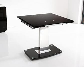 Enzo Designer Extending 80 cm - 120 cm Glass Dining Table