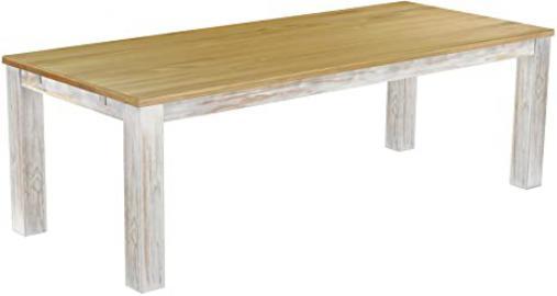 Brasil Furniture 'Rio' 240x 100cm Solid Wood Dining Table cm Shabby LH Colour Brasil