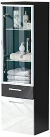Posseik 5815 99 Tall Hanging Cabinet, Anthracite/ High Gloss White