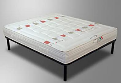 Mattress from 100% Latex and Organic Coconut Fibres and Natural 120 x 190 cm Detachable Half H 23 cm