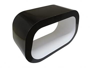 "The Squoval ""Square Oval"" TV Stand / Coffee Table Gloss Black and White"