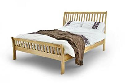 METAL AESTHETIC KING BED SOLID OAK