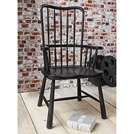 Wycombe Fireside Chair in Charcoal Finish - Solid Wooden Home Decor BL-5055299492086