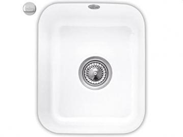 Villeroy & Boch Cist Erna 45Snow White Ceramic Undermount Kitchen Sink White