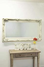 Large Cream Decorative Antique Ornate Big Wall Mirror 6Ft X 3Ft