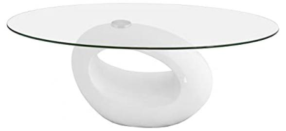 Febland Nebula Coffee Table, Glass, White