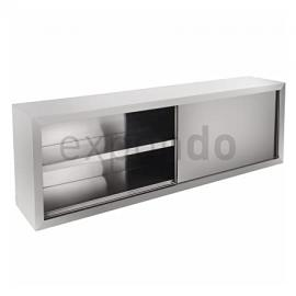 Royal Catering - RCHC-200/40 - Professional Wall Cabinet - 200 x 40 cm (LxW) - with two sliding doors - fittings included