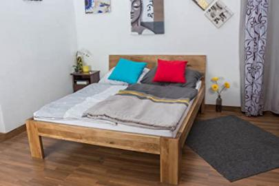 Youth Bed Wooden Nature 86, solid wild oak, oiled - 140 x 200 cm