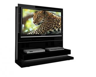 Triskom P3 TV Stand for LCD, LED or Plasma Screens 32, 37, 40, 42, 46, 47, 50, 52, 55 inch by SAMSUNG, SONY, LG, PANASONIC, PHILIPS, TOSHIBA, JVC. (Black Gloss)