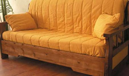 Sofa Country Ready Bed with Barrel in Solid Pine
