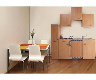 Respekta Kitchen Unit Beech / 180 cm / 150 cm + 30 cm pull-out larder