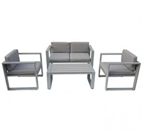 Charles Bentley Garden 4 Piece Lounge Set Dining Set Table Sofa and 2 Armchairs