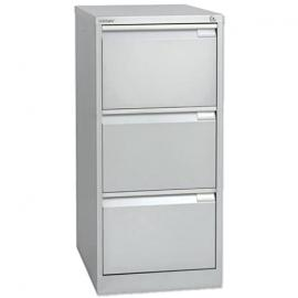Bisley Premium Filing Cabinet Flush-front 3-Drawer W470xD622xH1016mm Silver Ref BS3E 105