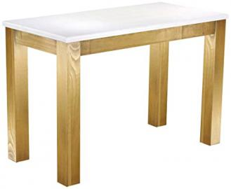 Brasil Furniture Dining Table Pine Solid Wood 'Rio' 115 x 56 cm, Colour: Snow – Brasil