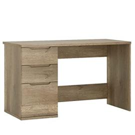 Furniture To Go Contra 3-Drawer Desk with Melamine, 126 x 76 x 60 cm, Oak